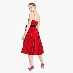 J. Crew Dresses - J CrewA-line spaghetti-strap dress velvet tie-NWT